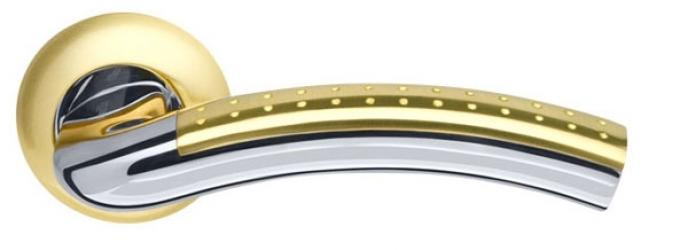 Ручка раздельная Libra LD26-1SG/CP-1 матовое золото/хром