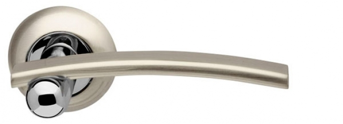 Ручка раздельная Mercury LD22-1SN/CP-3 матовый никель/хром