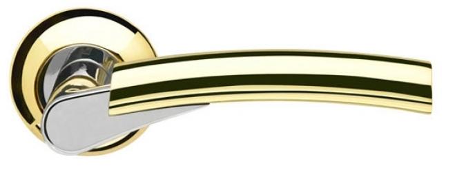 Ручка раздельная Vega LD21-1GP/CP-2 золото/хром