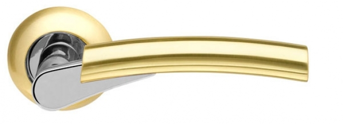 Ручка раздельная Vega LD21-1SG/CP-1 матовое золото/хром