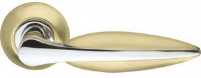 Ручка раздельная Lacerta LD58-1SG/CP-1 матовое золото/хром