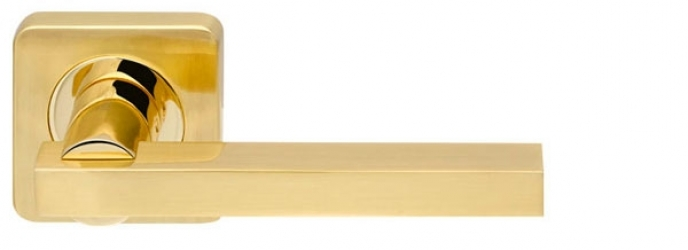 Ручка раздельная ORBIS SQ004-21SG/GP-4 матовое золото/золото