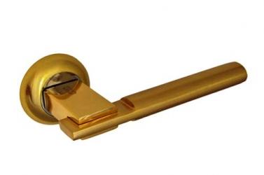 Ручка фалевая на круглой накладке                                 Матовое золото / золото Артикул A-94SB/PB