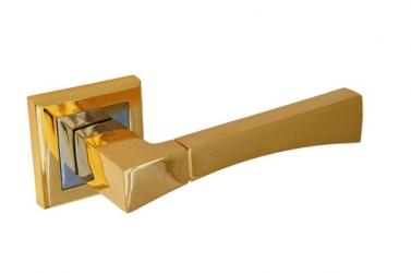 Ручка фалевая на квадратной накладке золото Артикул A-201PB