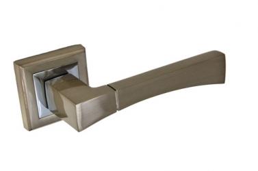 Ручка фалевая на квадратной накладке Белый никель Артикул A-201HH