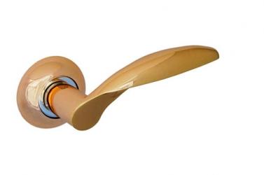 Ручка фалевая на круглой накладке Золото Артикул X10PB