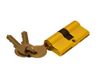 Ключевой цилиндр 60 мм 3 кл Золото R6-3-60 PB-D (ключ-ключ)