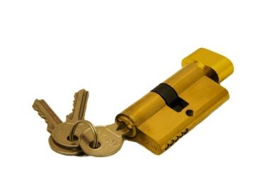 Ключевой цилиндр 60 мм 3 кл Золото R6-3-60 PB-S (ключ-завертка)