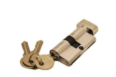 Ключевой цилиндр 60 мм 3 кл Хром R6-3-60 PС-S (ключ-завертка)