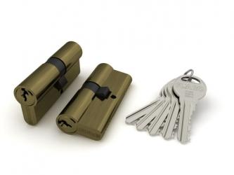 Цилиндровый механизм R300/60 mm (25+10+25) AB бронза 5 кл.