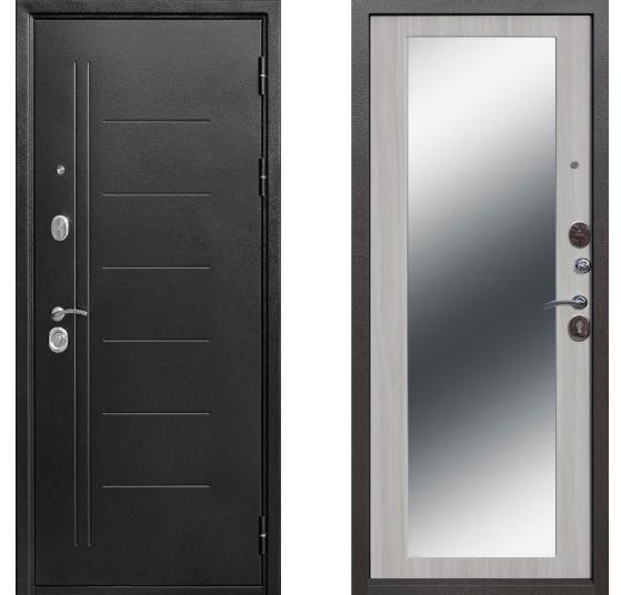 10 см Троя Серебро (Антик) Зеркало MAXI Белый Ясень